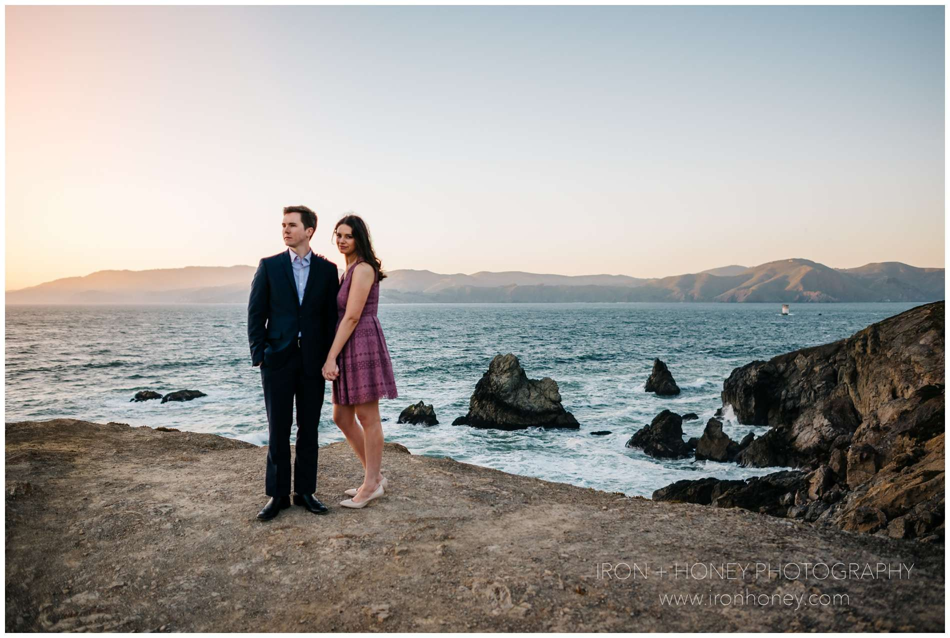 California Redwood Forest, Sutro Baths Engagement, San Francisco, Sutro Baths, Redwood forest, redwood regional park, cliff house, land's end, engagement, travel, destination, wedding, elopement, photographer, photography, melissa ferrara, iron and honey, sunset, forest, woods, california, chicago, oakland