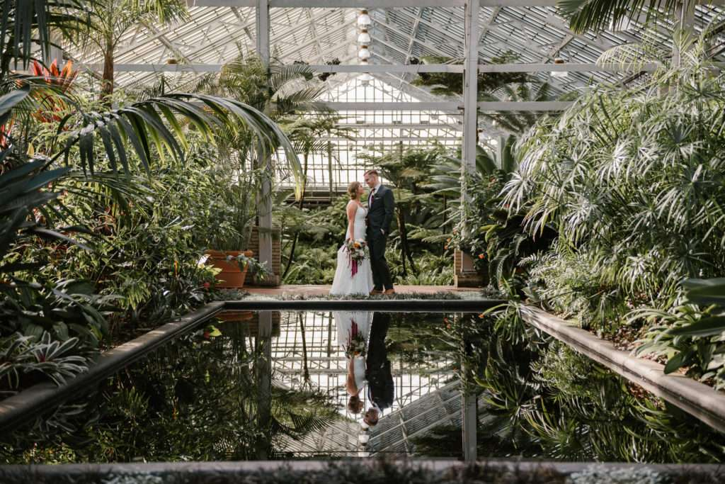 loft on lake, garfield park conservatory, wedding, elopement, intimate wedding, small wedding, iron and honey, wedding photographer, wedding photography, chicago, illinois, engagement, photographer