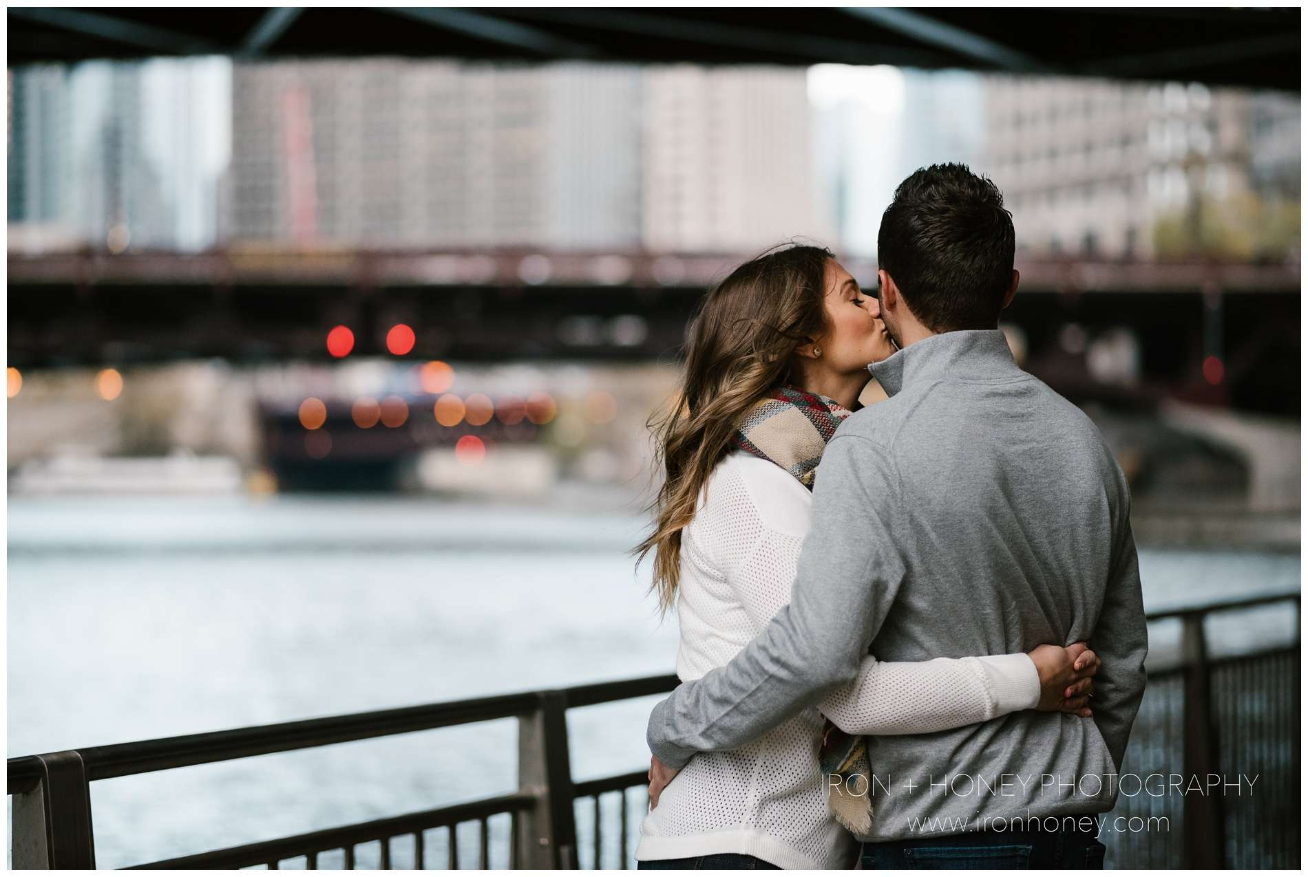 chicago riverwalk engagement session, iron and honey, melissa ferrara, chicago engagement photographer, chicago wedding photographer, chicago riverwalk