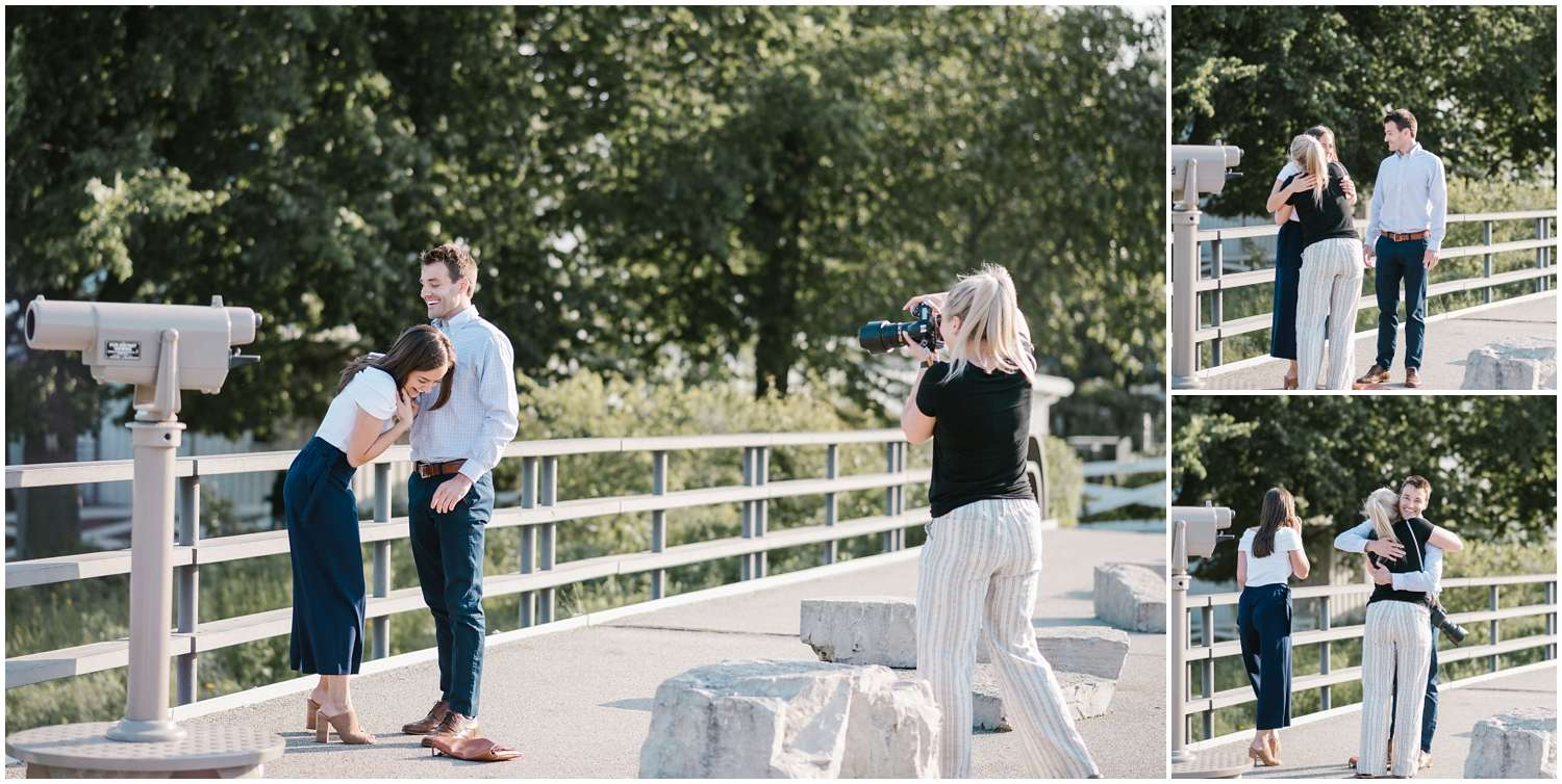 proposal, engagement, engaged, lincoln park, nature boardwalk, chicago, photographer, surprise, couple, lifestyle, iron and honey, bts, behind the scenes,