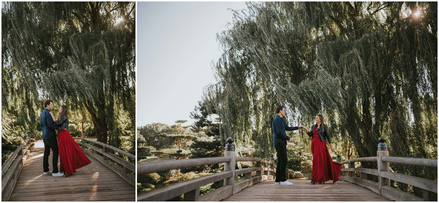 Chicago Botanic Garden Engagement Session