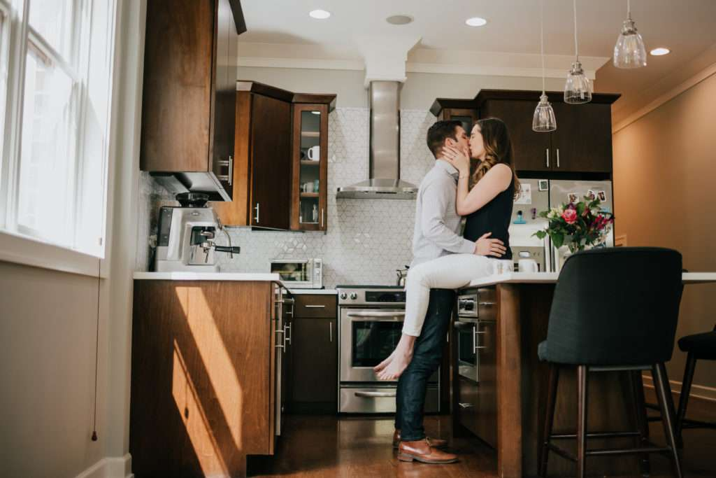 in home session, couples, session, engagement, chicago, illinois, lifestyle, emotional, intimate, personal, storytelling, photographer, photography, iron and honey, melissa ferrara, apartment, condo, home,
