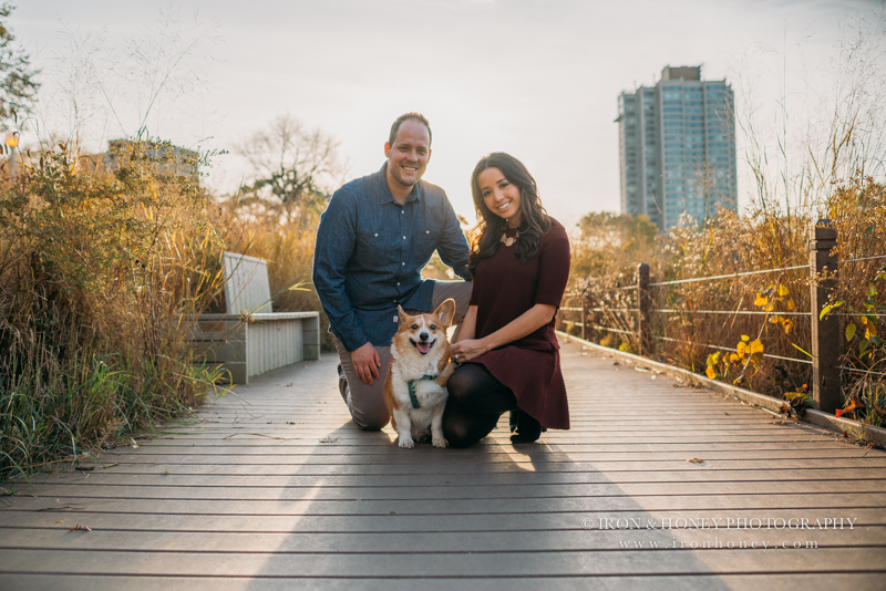 chicago, pet photographer, engagement, lincoln park, nature boardwalk