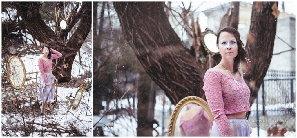 chicago, whimsical, winter, photo shoot, suzy snowflake, editorial, concept