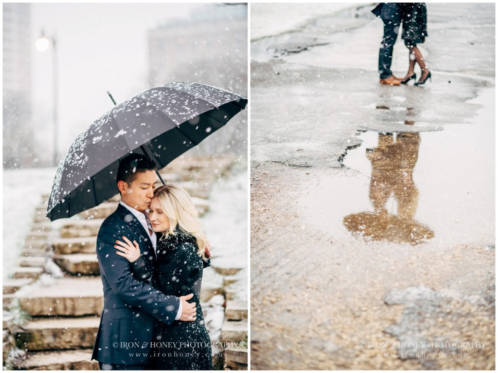 a new leaf, lincoln park, engagement, photographer, chicago, wedding, winter, snow