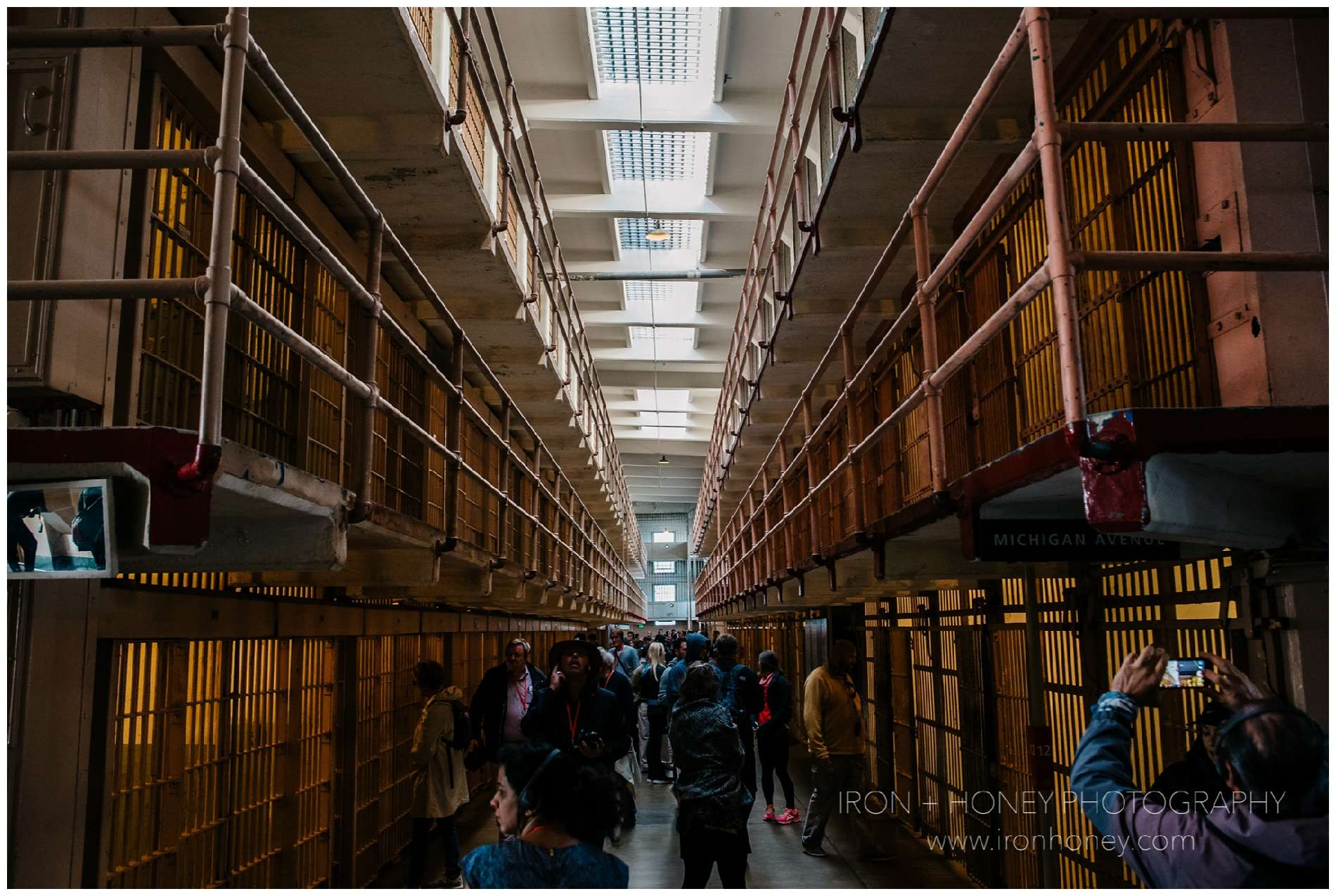 alcatraz, alcatraz island, the rock, san francisco, california, al capone, scarface, prison, tour, golden gate national recreation area, iron and honey, travel photography, tourist,
