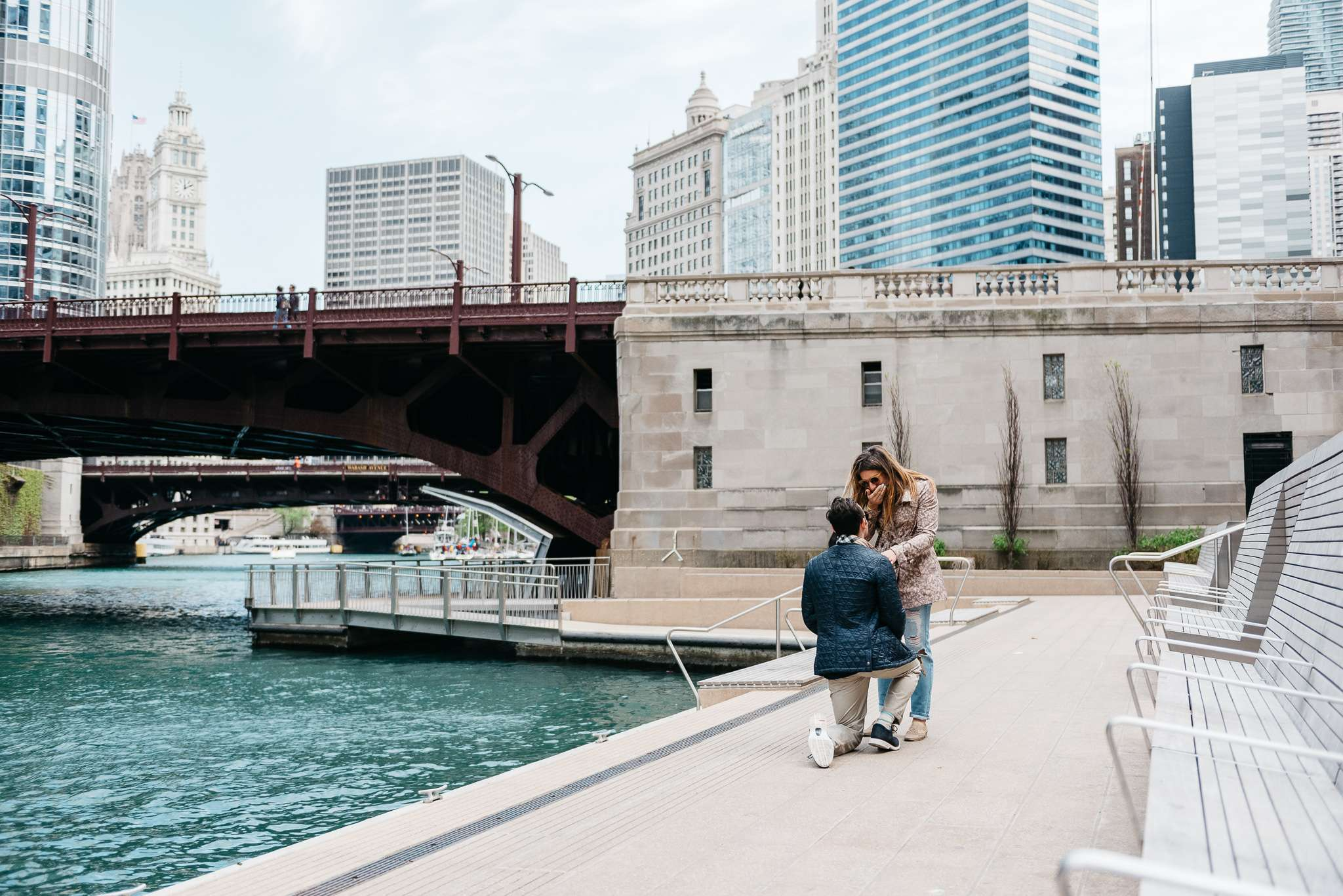 proposal, city winery, chicago, riverwalk, river, lake michigan, boat, goodman theater, engagement, surprise, chicago engagement photographer, chicago blogger, proposal photographer, photographer, chicago wedding photographer, chicago elopement photographer