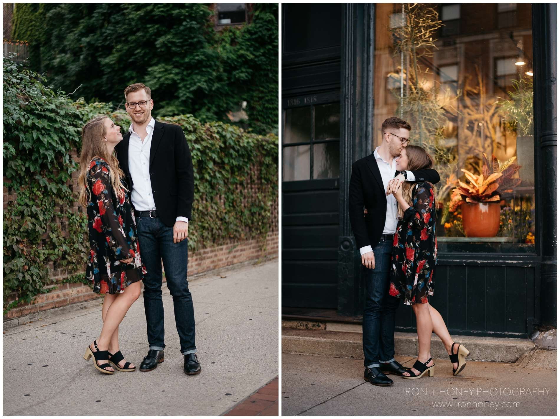 old town, lincoln park, lifestyle, engagement photographer, engagement session, lifestyle session, lifestyle photographer, chicago wedding photographer, chicago elopement photographer, old town art walk, chicago,