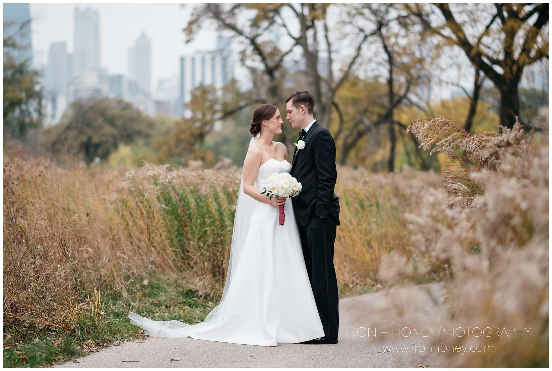 fall wedding, autumn wedding, salvatore's, st celement's, iron and honey photographer, melissa ferrara, lincoln park nature boardwalk, lincoln park, wedding, elopement, bridal party, bride and groom, belmonte's florist, becker's bridal, blush events, weddings 826, bianca bridal, backthird entertainment, kositchek's, chicago wedding photographer, chicago elopement photographer, chicago wedding, chicago wedding ideas, bridal party skyline