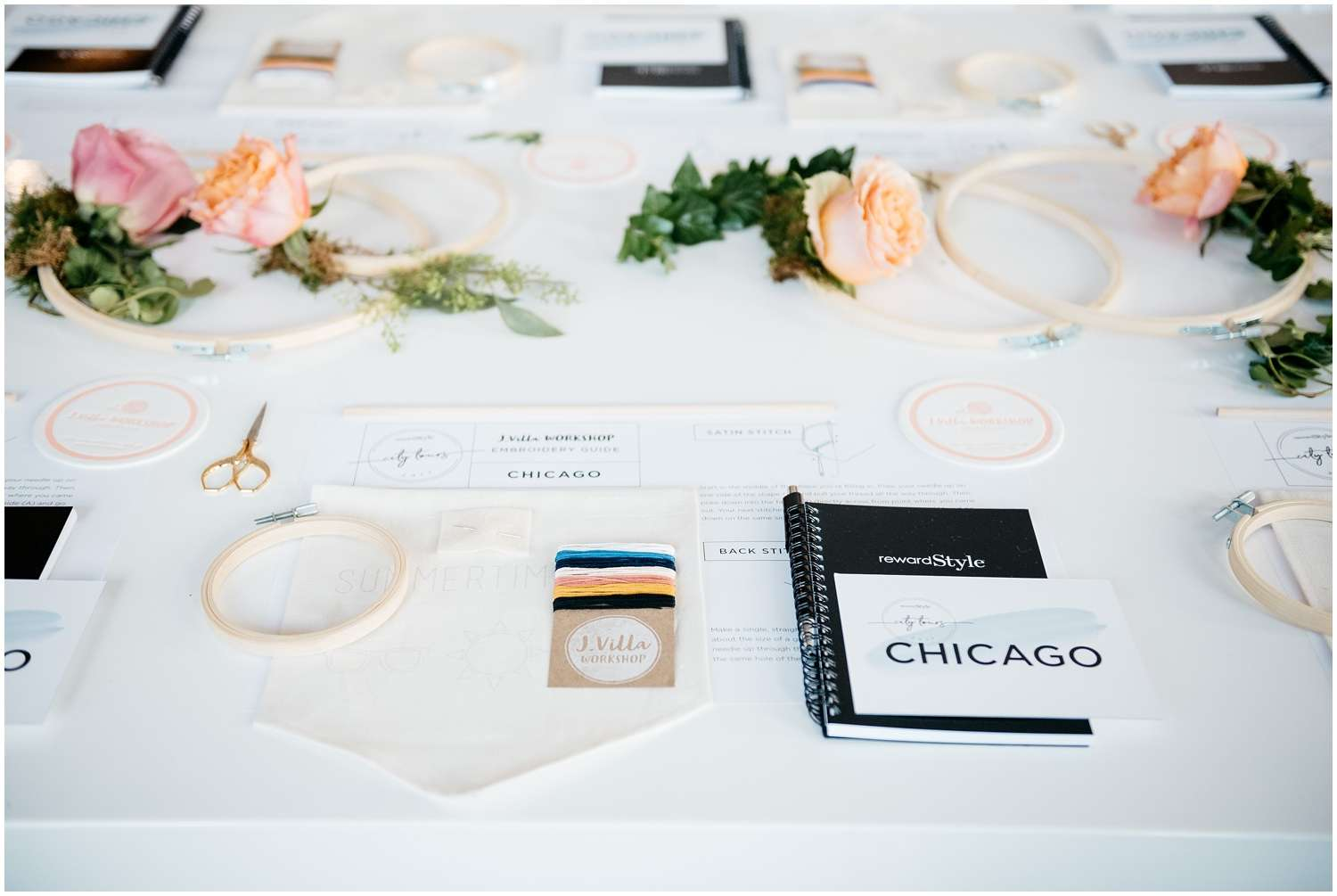 rewardstyle, reward style, rscitytours, city tour, chicago, lifestyle, fashion, event, oliver dogwood floral co, oliver dogwood, photographer, photography, fashion, lollapalooza, lolla, startedwithascreenshot, Matthew Rachman Gallery, embroidery, j villa, j villa workshop,