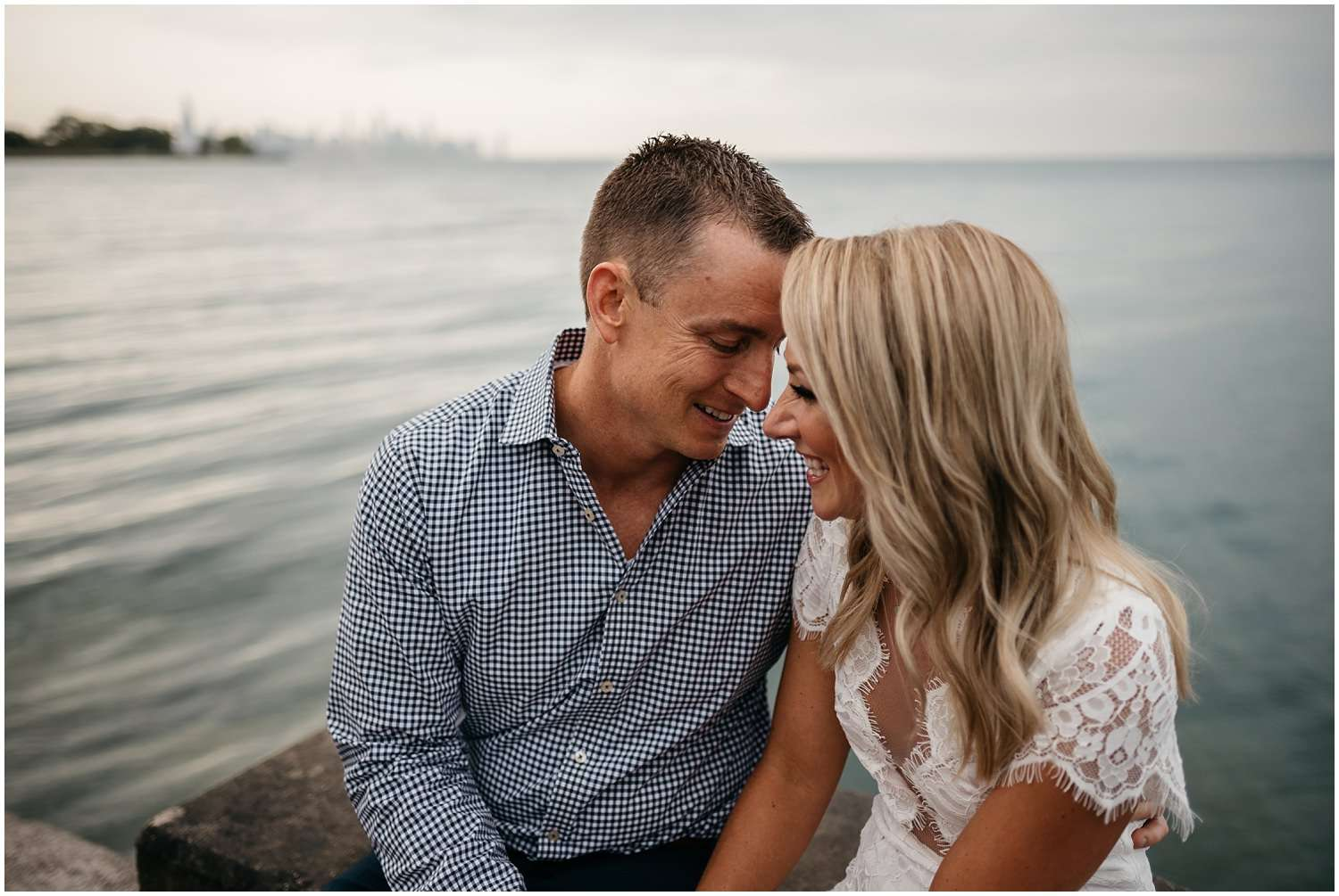 chicago engagement photographer, couples session, engagement session, engagement, promontory point, chicago, skyline, lake, lake michigan, sunset, illinois, northwest indiana, milwaukee, wisconsin