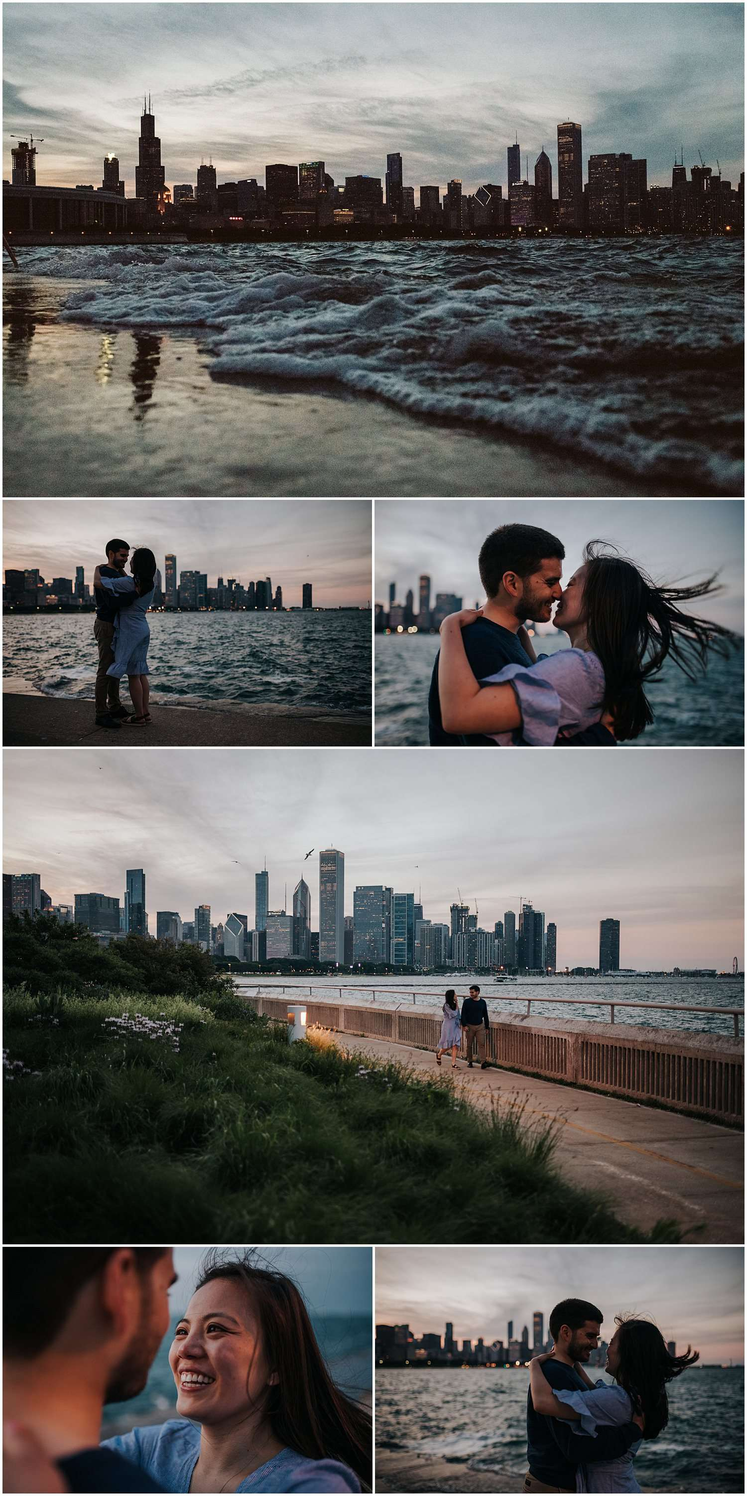 field museum, museum campus, chicago, skyline, city, lake michigan, sunset, engagement, couple, couples, photographer, photography, iron and honey, lifestyle, documentary, candid, unposed, best chicago photographer, best chicago photographers, best chicago engagement photographer, best chicago wedding photographer